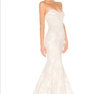 x REVOLVE Amelia Gown in Ivory Michael Costello
